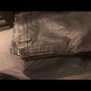 J brand Skinny Leather Pant. Color: Dark Platinum